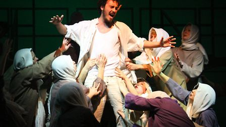 Jesus Christ Superstar performance by Sidmouth Musical Theatre. Ref shs 12-16AW 1853. Picture: Alex
