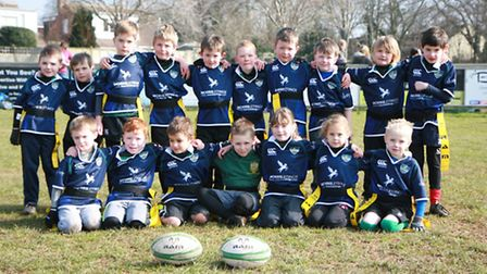 Sidmouth RFC Under-7s squad