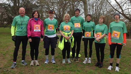 Sidmouth runners at the Sports Relief Mile meeting in Sidmouth