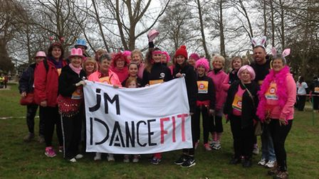 J M Dance Fit at the Sport Relief Mile event in Sidmouth