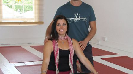 Louise and Tom Hunt open their new business, Jala Flow Yoga. Ref shs 0244-27-15AW. Picture: Alex Wal
