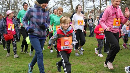Sports Relief Fun Run in the Byes on Sunday morning. Ref shs 12-16SH 8297. Picture: Simon Horn