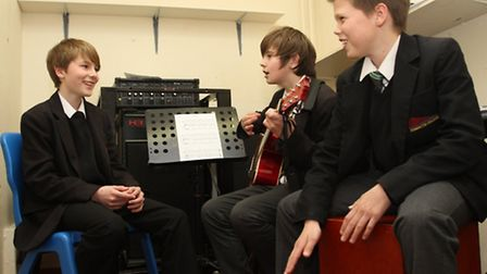 Sidmouth College students in rehearsal for their fundraising concert this week. Ref shs 11-16SH 7556