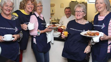 A Big Breakfast event for Cancer Research UK was held at Steamers in Beer on Friday and the ladies a