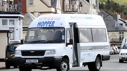 The Sidmouth Hopper bus launched for 2013. Picture by Alex Walton. Ref shs 2997-21-13AW