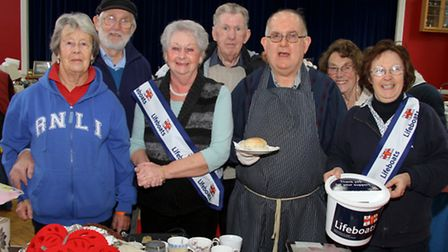 Seaton and Beer RNLI held a fundraising table-top sale at Mariner's Hall at the weekend. Ref shb 05-