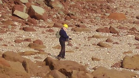 A man spotted on Sidmouth's east beach