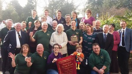 Sidmouth Town Band celebrating their latest successes