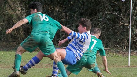 Sidmouth Town 3rds beat Elmore 2nds 4-0 in the cup game at the weekend. Ref shsp 11-16TI 2709. Pictu