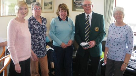 The ladies' winners at the Sidmouth Golf Club Captain's Texas Scramble meeting.