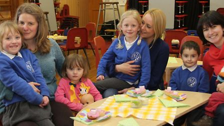 Children at Newton Poppleford primary school treated their mums to a special Mother's Day tea at sch