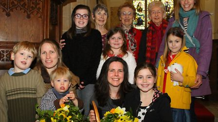 St. Gile's church in Sidbury hosted a special tingle service for Mother's Day. Ref shs 10-16AW 0089.