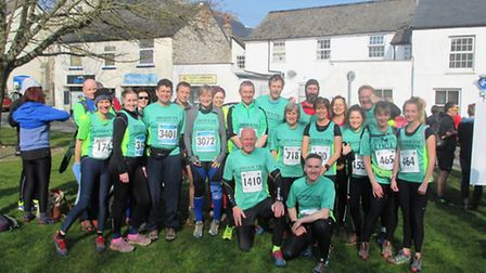 Sidmouth runners at the Grizzly