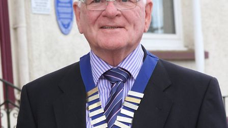 Ottery St Mary mayor; councillor Glyn Dobson. Photo by Simon Horn. Ref sho 2271-20-14SH To order you