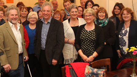 Staff from the Fields store held a presentation party for their former directors at the Anchor Inn o