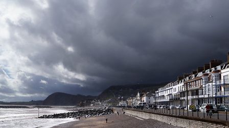 Dark skies above Sidmouth. Picture Eve Mathews.