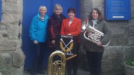 Sally George, Val Howels, Anne Blackburn, Andrea Gosling, the founders of the Friends of Sidmouth To