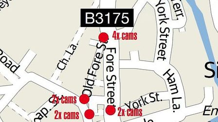 The proposed locations for CCTV cameras