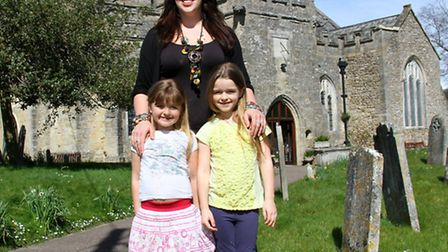 Hannah Vicarage with her daughters Holly, five, and Lara, six. Hannah is organising a gospel choir a
