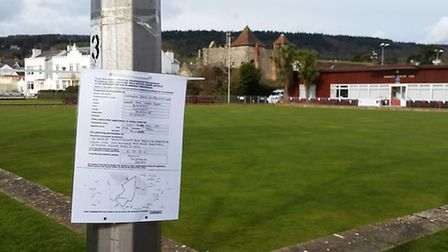The poster which tricked a number of club members at the Sidmouth Tennis and Bowling Club.
