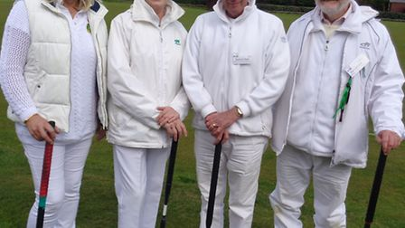 Sidmouth croquet players who took part in a two-day ournament at Budleigh recently: (left to right),
