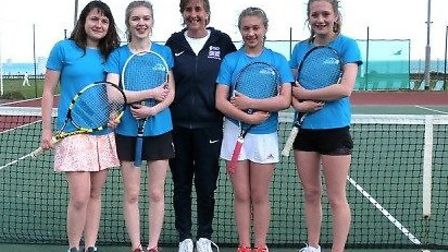 The Sidmouth Under-18 girl's at Ivybridge