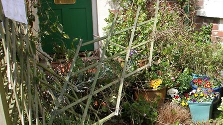 A front garden that has been destroyed by vandals in Lawn Vista. Ref shs 16-16TI 9275. Picture: Terr