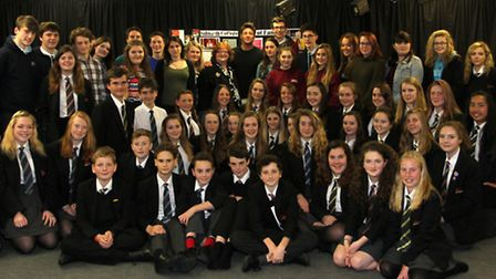 Musician and actor Duncan James paid a visit to his old school this week- Sidmouth College. Ref shs