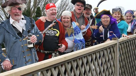 A Pirate Day was held at a blustery Pecorama in Beer on Sunday and pictured are members of the Seato