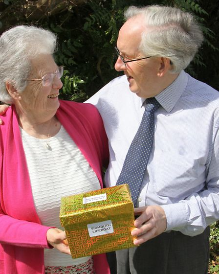 Golden wedding couple Chris and Felicity Wilson. Ref shs 15-16TI 8853. Picture: Terry Ife