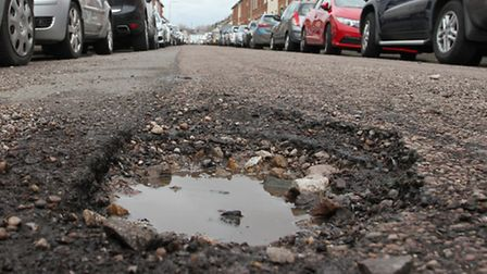 Pothole in Salisbury Road in the Colony. Ref exe 14-16SH 9464. Picture: Simon Horn