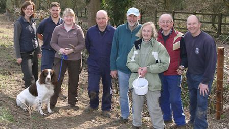 Donkey Sanctuary staff and volunteers have been working on creating new hedgerow habitat as part of