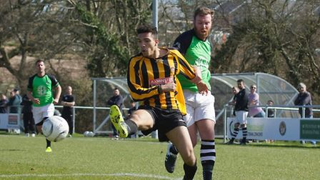 Axminster Town versus Galmpton United action