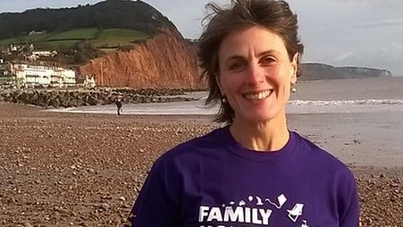 Runner Claire Ashby is supporting the Family Holiday Association