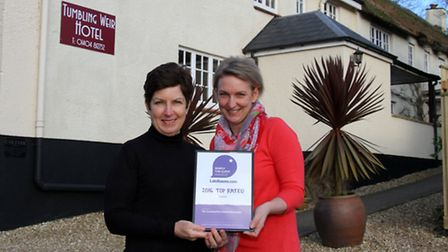 Lynn Thurgate (left) of the Tumbling Weir Hotel has pleaded with motorists to take more care when th