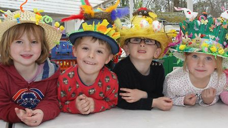 Children at the Vicarage Road site of Sidmouth primary school enjoyed their Easter Bonnet parade. Re