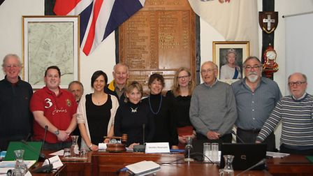 Sidmouth Neighbourhood Plan Steering Group committee. Ref shs 15-16SH 0741. Picture: Simon Horn