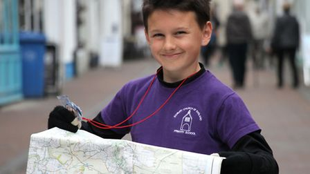 Eleven year old Ben Fisher will be taking part in a sixteen mile trek across Exmoor for Sense. Ben h