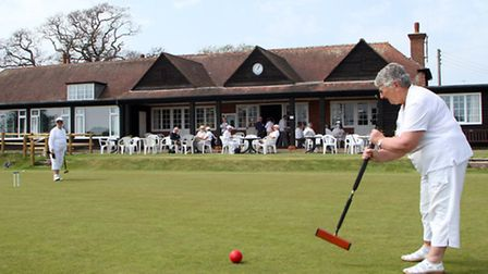 Budleigh Croquet Club held an open day for newcomers to try out the facilities. Geraldine O'Boyle ta