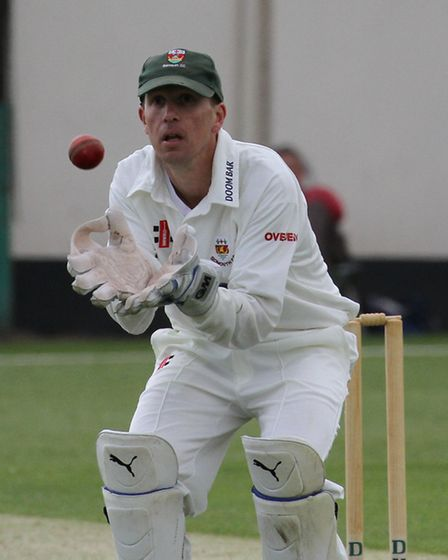 Wicket keeper Matt Hewer took seven catches for Sidmouth at home to Bovey Tracey. Ref shsp 20-16TI 0