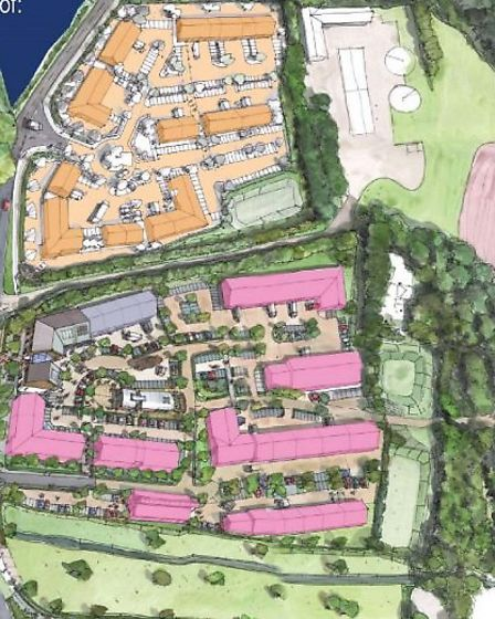 The proposed layout of Fords' business park