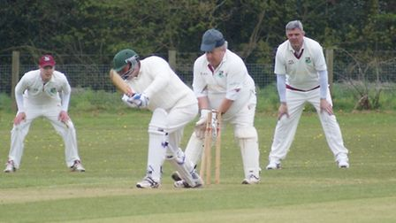 Mark Channon isbowled by Ed House in the Newton Poppleford versus Tipton St John game. Picture: PHIL