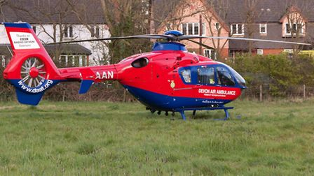 Sidmouth, Devon, 28th Apr 2016Devon Air Ambulance called to an incident in Sidmouth.Picture: Sout