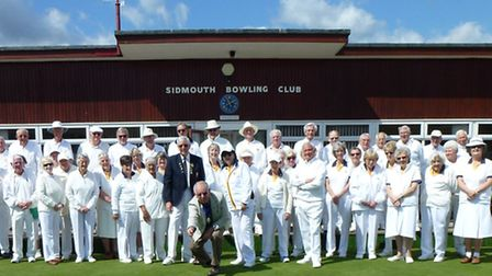 Sidmouth members before the start of a new outdoor season at the club.