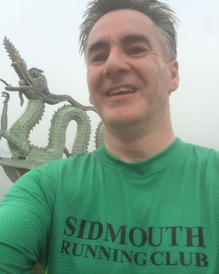 Sidmouth runner David Wright in Hanoi
