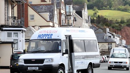 The Sidmouth Hopper bus. Picture by Alex Walton. Ref shs 2997-21-13AW