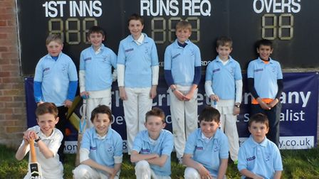 The Ottery St Mary Under-11 team