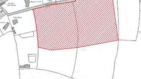 The site for the proposed plans.