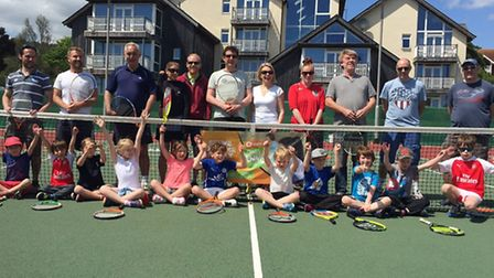 Sidmouth Tennis Clubb members who took part in the Quorn Family Tennis