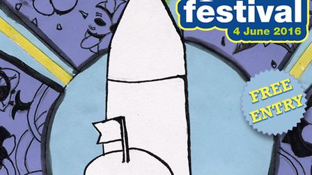 Winning design for the Ottery St Mary Food and Families Festival poster competition
